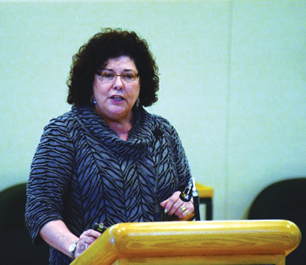 PHOTO BY CHARLES LEFEBVRE - Denise Henning, CEO of Medicine Hat College, unveiled MHC's strategic plan to Medicine Hat City council last week.