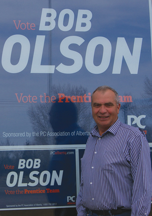 Bob Olson, candidate for the Progressive Conservatives, said provincial budget and 10-year plan is open, transparent, and workable.