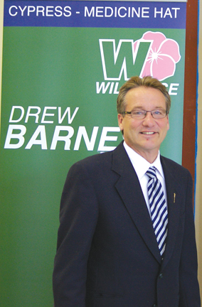 Drew Barnes, candidate for the Wildrose Party, said PC government broke promise to rescind property rights laws, says the biggest challenge in the riding is the current state of the economy.