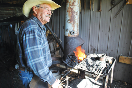 James Underwood of Underwood Forge has been blacksmithing since he was 16 years old.