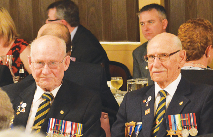 WW2 veterans, George Hope and Joe Baier were guests of honour at the Redcliff Legion Veterans Supper on Friday evening. Both are lifetime members of the Redcliff branch.