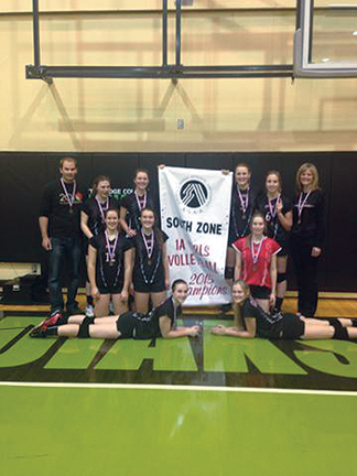 PHOTO SUBMITTED BY LORI SEREDA - The Senator Gershaw Lady Gators are off to Provincials after capturing the 1A Zone Girls Volleyball banner in Lethbridge on Nov. 14. The girls will travel to Fairview for the provincial championship Nov. 26-28.