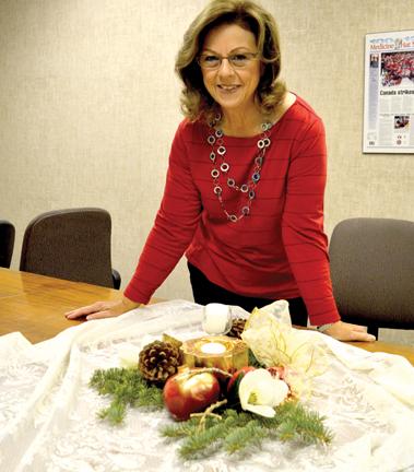 Flower arranger Gillian Slade