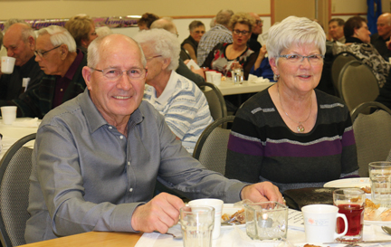 Fritz Braat and his wife, Lisa are active members of the Golden Age Club and were enjoying the evening among friends.