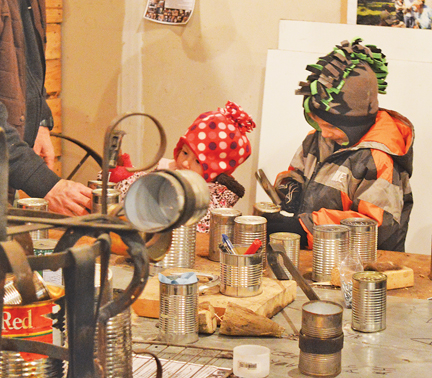 Santa's elves hard at work in the Wittke Blacksmith Shop at the Medicine Hat Exhibition and Stampede's Old Tyme Christmas event on Dec. 3.