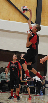 PHOTO SUBMITTED BY KAREN BYAM - Bow Island's Christopher Byam has been selected to the Zone 1 men's volleyball team for the upcoming Alberta Winter Games, taking place in Cypress County and Medicine Hat Feb. 13-16.
