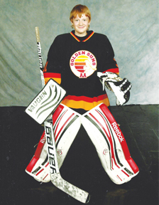 PHOTO SUBMITTED- Brendan Olson of Seven Persons is playing in his first ever Alberta Winter Games. He was chosen over eight other goalies who tried out for the Zone 1 team.