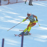 Courtney Ackimenko challenges the Slalom event on Feb. 14 at Hidden Valley Ski Resort.