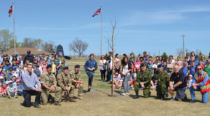 PHOTO BY TIM KALINOWSKI- The citizens of Ralston held a tree-planting in honour of Earth Day, along with a village clean-up and barbecue last Thursday afternoon.