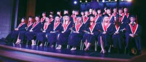 Photo by Jamie Rieger- The Senator Gershaw graduating class listen to dignitaries who offer words of congratulation and encouragement at their graduation ceremony on Thursday evening.