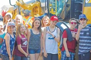 Photo by Tim Kalinowski- Cypress County's fist annual Public Works Day was a huge hit with the local students.