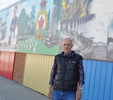 PHOTO BY TIM KALINOWSKI- Redcliff Legion president Dennis Rathwell hopes many will come out to help local Branch No. 6 celebrate its 90 years in Redcliff.