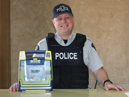 The Bow Island/Foremost RCMP is very appreciative of the donation of three AEDs by Bow Island and District Victim Services Association for their cruisers.