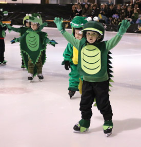 PHOTO BY JAMIE RIEGER- The Pre-CanSkaters proved that crocodiles can be cute critters.