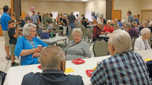 Photo by Jamie Rieger- Lots of family and friends came out to the Golden Age Centre on Saturday to help Gladys Hodgson celebrate her 105th birthday.